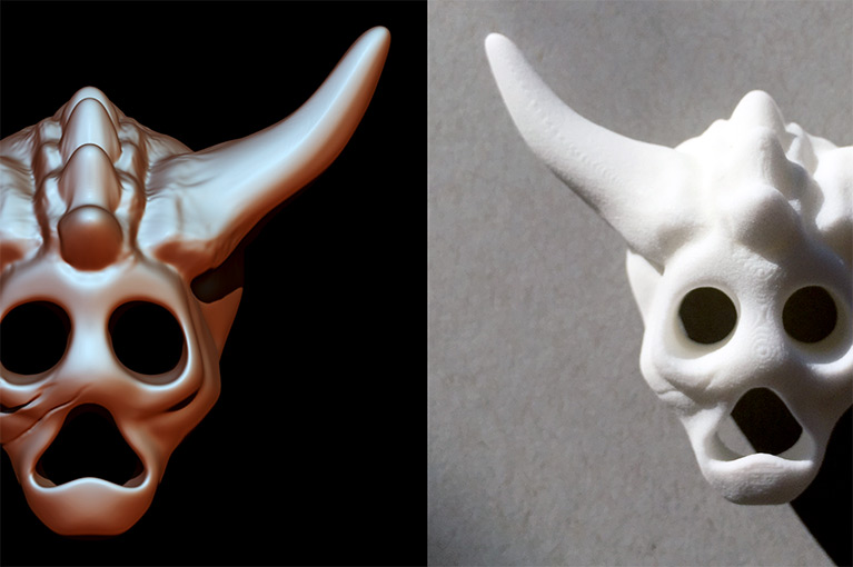 Mask 02 sculpt and print